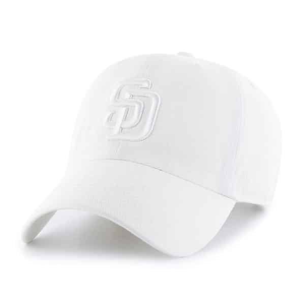 158f7653d San Diego Padres 47 Brand All White Clean Up Adjustable Hat