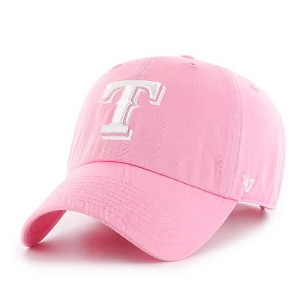 hot sales c3eae e4488 Texas Rangers 47 Brand Pink Rose Clean Up Adjustable Hat - Detroit Game Gear