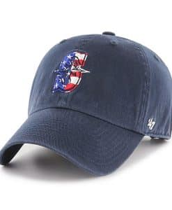 Seattle Mariners Red White & Blue 47 Brand Navy Clean Up Adjustable Hat