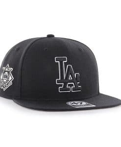Los Angeles Dodgers 47 Brand Sure Shot Black Adjustable Hat