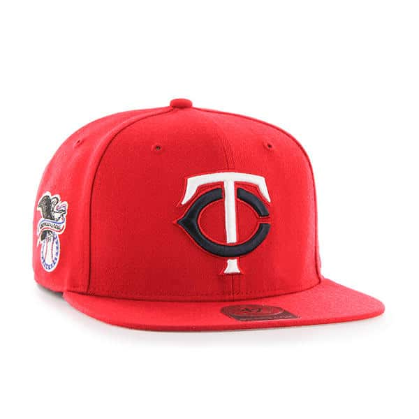 fa8c5e47ff0 Minnesota Twins 47 Brand Red Sure Shot Adjustable Hat - Detroit Game Gear