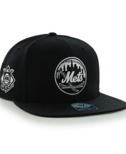 New York Mets 47 Brand Black Sure Shot Snapback Hat