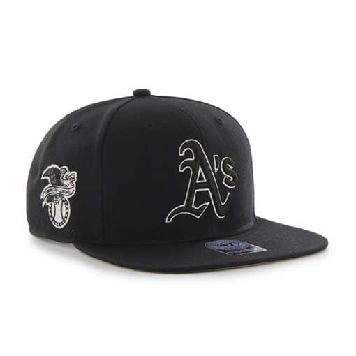 Oakland Athletics 47 Brand Black Sure Shot Snapback Hat