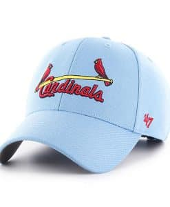 St. Louis Cardinals 47 Brand Columbia Blue MVP Adjustable Hat