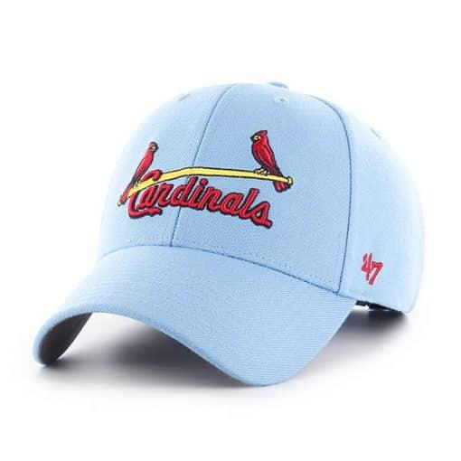 St. Louis Cardinals 47 Brand Columbia Blue MVP Adjustable Hat
