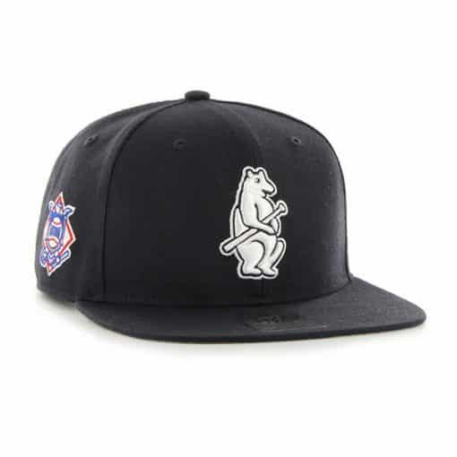 Chicago Cubs 47 Brand Navy Sure Shot Snapback Hat
