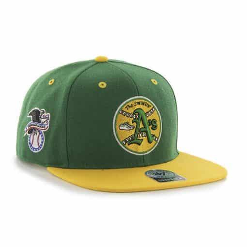 Oakland Athletics Sure Shot Two Tone Captain Kelly 47 Brand Snapback Hat