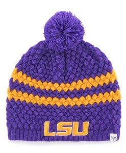 Louisiana State LSU Tigers Women's 47 Brand Purple Kendall Beanie Hat