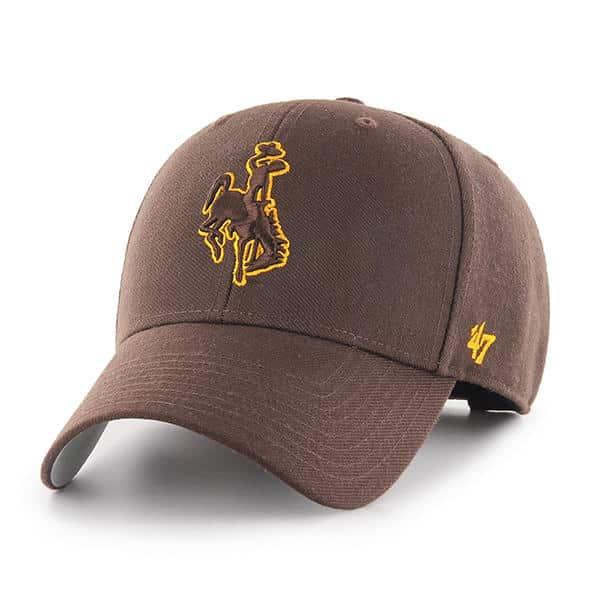 Wyoming Cowboys 47 Brand Brown MVP Adjustable Hat