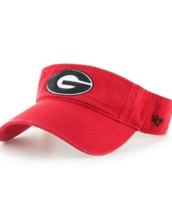 Georgia Bulldogs 47 Brand VISOR Red Adjustable Hat