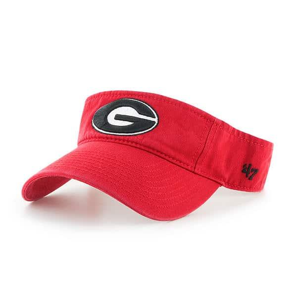 Georgia Bulldogs 47 Brand VISOR Red Adjustable Hat