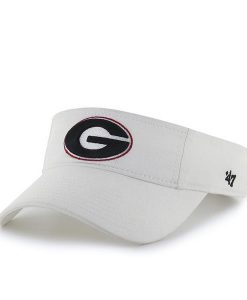 Georgia Bulldogs 47 Brand White VISOR Adjustable Hat