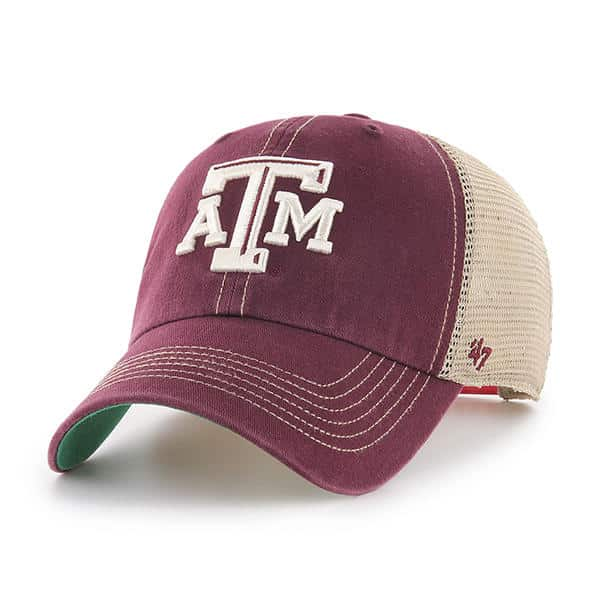 low priced ebfcc c0292 Texas A M Aggies 47 Brand Dark Maroon Trawler Mesh Clean Up Adjustable Hat  - Detroit Game Gear