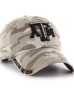 Texas A&M Aggies 47 Brand Camo Tarpoon Faded Adjustable Hat