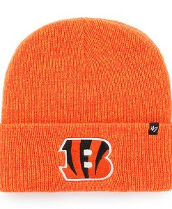 Cincinnati Bengals 47 Brand Orange Brain Freeze Cuff Knit Hat