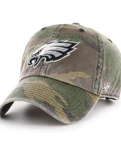 Philadelphia Eagles 47 Brand Camo Clean Up Adjustable Hat