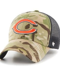 Chicago Bears 47 Brand Camo Compass Mesh Stretch Fit Hat