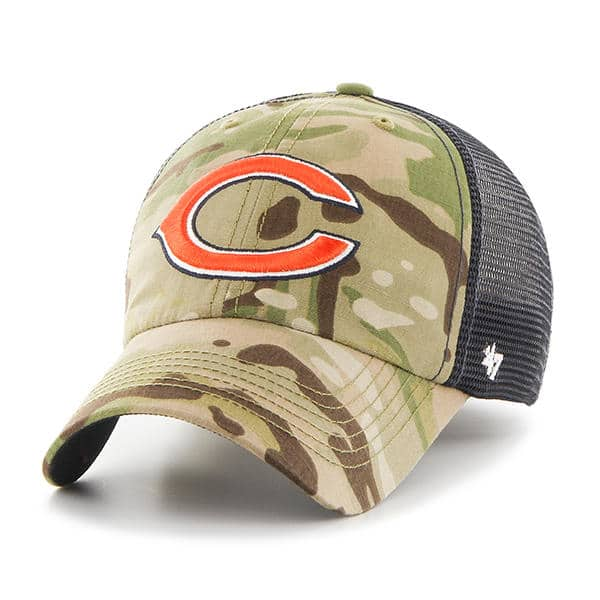 huge selection of 3dadb 1c1a6 Chicago Bears 47 Brand Camo Compass Mesh Stretch Fit Hat