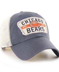 Chicago Bears 47 Brand Vintage Navy Crawford Clean Up Adjustable Hat