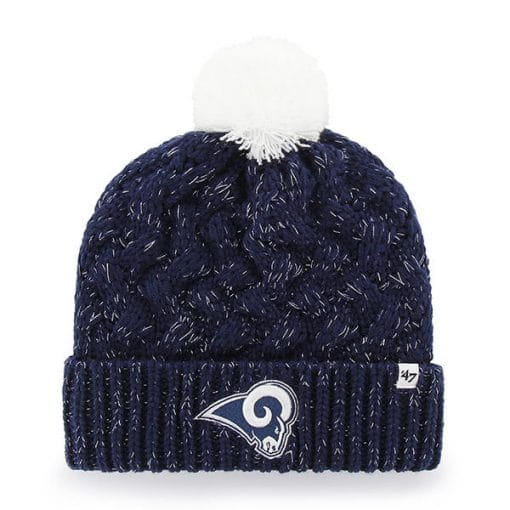 Los Angeles Rams Women's 47 Brand Navy Fiona Cuff Knit Hat