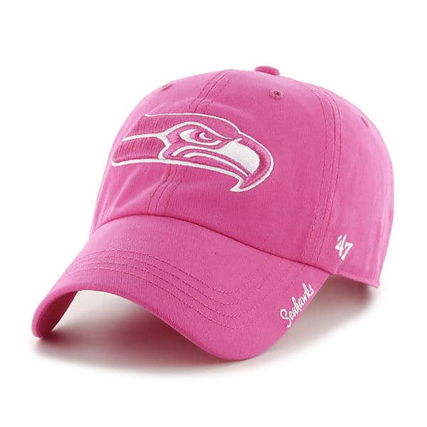 e96518754 Seattle Seahawks Women's 47 Brand Pink Clean Up Hat - Detroit Game Gear