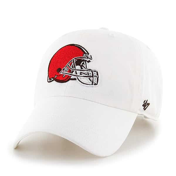 759aa33ed1a3f Cleveland Browns Clean Up White 47 Brand Adjustable Hat