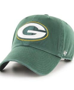Green Bay Packers Clean Up Dark Green 47 Brand Adjustable Hat