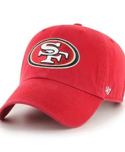 San Francisco 49ers 47 Brand Red Clean Up Adjustable Hat