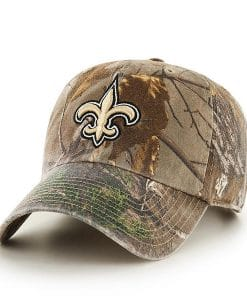 New Orleans Saints 47 Brand Camo Realtree Clean Up Adjustable Hat