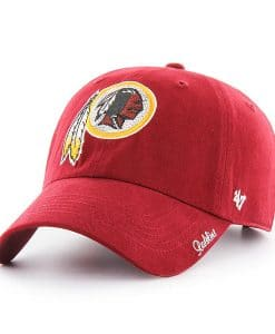 Washington Redskins Women's 47 Brand Sparkle Red Clean Up Hat