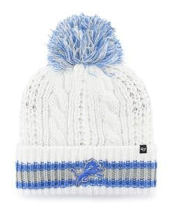 Detroit Lions Women's 47 Brand White Sorority Cuff Knit Hat