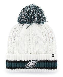 Philadelphia Eagles Women's 47 Brand White Sorority Cuff Knit Hat