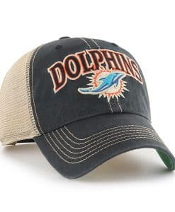 Miami Dolphins Tuscaloosa Clean Up Vintage Black 47 Brand Adjustable Hat