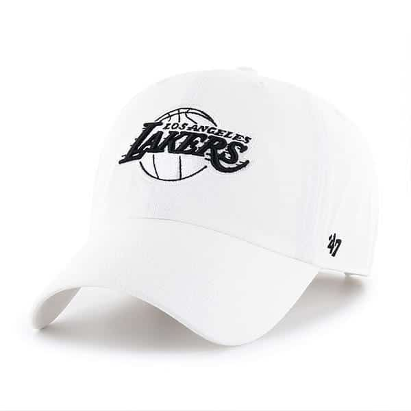 Los Angeles Lakers 47 Brand White Clean Up Adjustable Hat