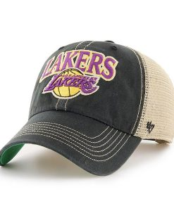 Los Angeles Lakers 47 Brand Tuscaloosa Vintage Black Adjustable Hat