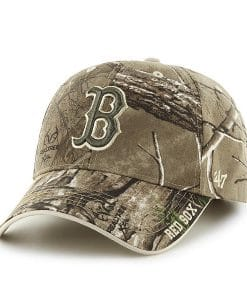 Boston Red Sox 47 Brand Realtree Camo Clean Up Adjustable Hat