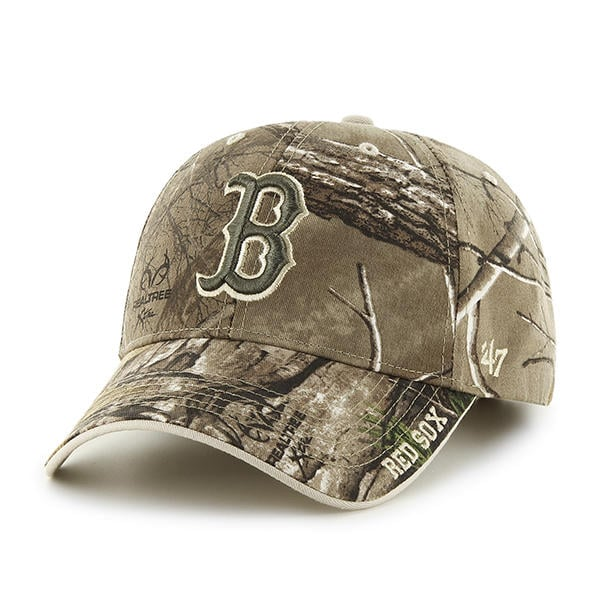 purchase cheap 324bd 67957 Boston Red Sox 47 Brand Realtree Camo Clean Up Adjustable Hat - Detroit  Game Gear