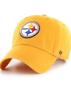 Pittsburgh Steelers 47 Brand Gold Clean Up Adjustable Hat
