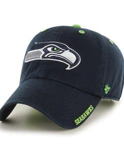 Seattle Seahawks 47 Brand Ice Navy Adjustable Hat