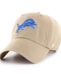 Detroit Lions 47 Brand Clean Up Khaki Adjustable Hat