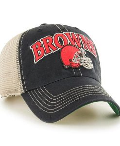 Cleveland Browns Tuscaloosa Clean Up Vintage Black 47 Brand Adjustable Hat