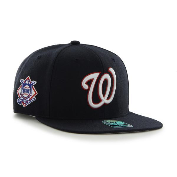 Washington Nationals Sure Shot Navy 47 Brand Snap Back Hat