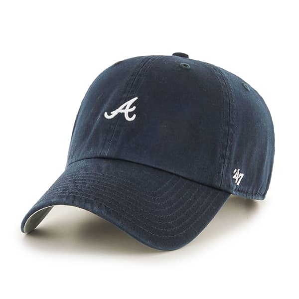 Atlanta Braves Abate Clean Up Navy 47 Brand Adjustable Hat