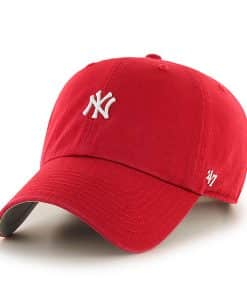 New York Yankees Abate Clean Up Red 47 Brand Adjustable Hat