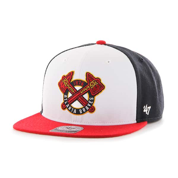 Atlanta Braves Amble Captain Red 47 Brand Adjustable Hat
