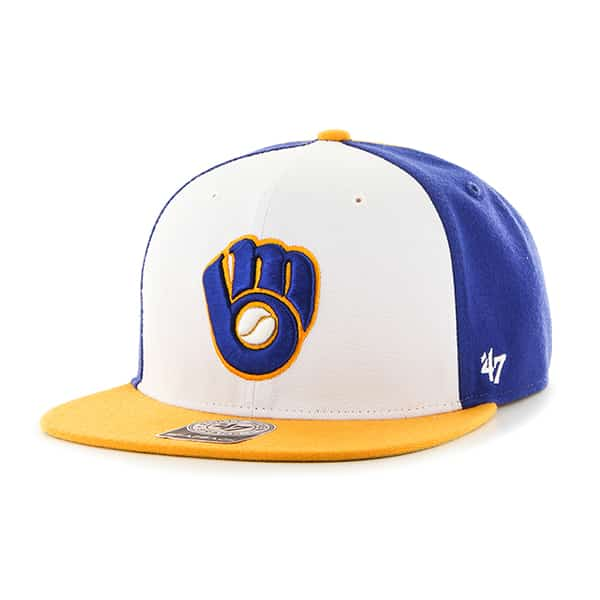 Milwaukee Brewers Amble Captain Gold 47 Brand Adjustable Hat