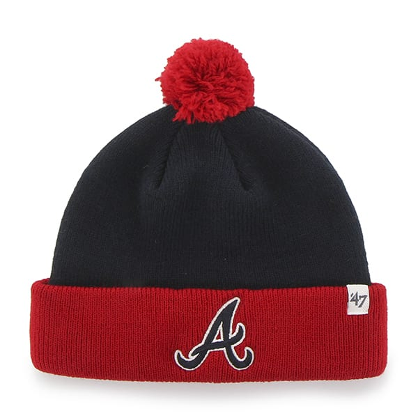 Atlanta Braves Bam Bam Cuff Knit Navy 47 Brand TODDLER Hat