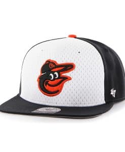 Baltimore Orioles Backboard Captain Black 47 Brand Adjustable Hat