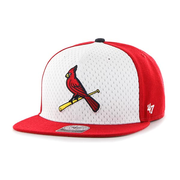 St. Louis Cardinals Backboard Captain Red 47 Brand Adjustable Hat