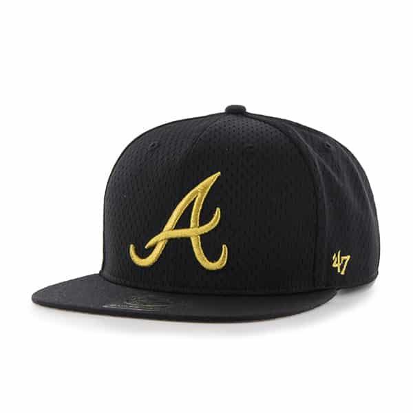 Atlanta Braves Beat Box Captain Black 47 Brand Adjustable Hat